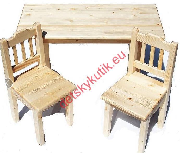 8077abeb6d67 Drevený stolík prírodný 2stoličky+stolík