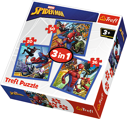 Puzzle 3v1 Disney Marvel Spiderman